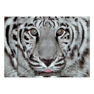 White Tiger Large Business Card