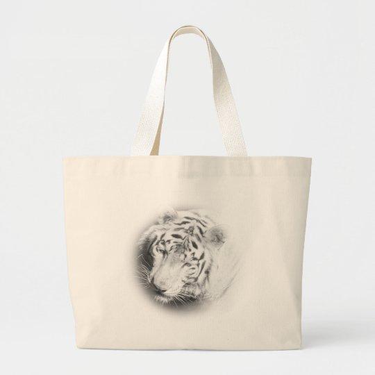 White Tiger Large Tote Bag