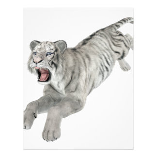 White Tiger Leaping Letterhead
