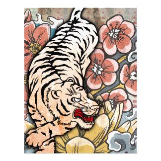 White Tiger Personalized Letterhead