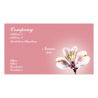 White Tiger Lilly Double-Sided Standard Business Cards (Pack Of 100)