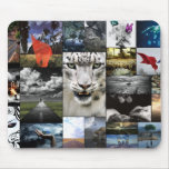 White Tiger look Mouse Pad