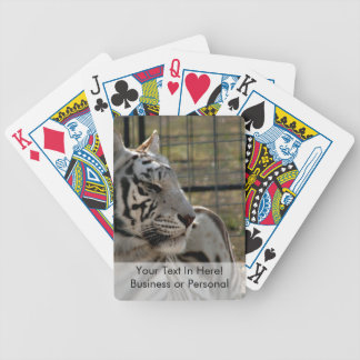 white tiger looking right animal image bicycle playing cards