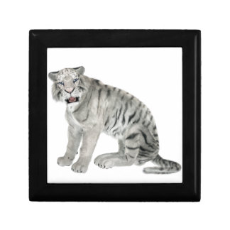White Tiger Looking to the Front Gift Box