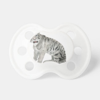 White Tiger Looking to the Front Pacifier