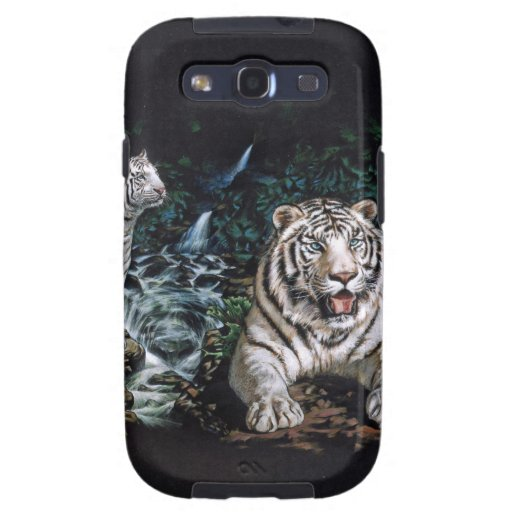 White Tiger Magical Jungle Samsung Galaxy S3 Covers