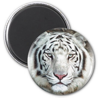 WHITE TIGER FRIDGE MAGNET