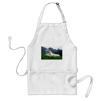 White Tiger Mamma and Cub Adult Apron