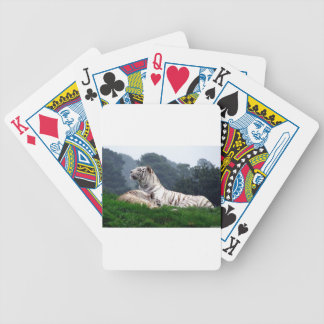 White Tiger Mamma and Cub Bicycle Playing Cards