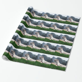 White Tiger Mamma and Cub Wrapping Paper