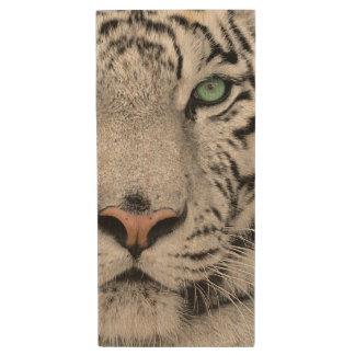 White Tiger Wood USB 2.0 Flash Drive
