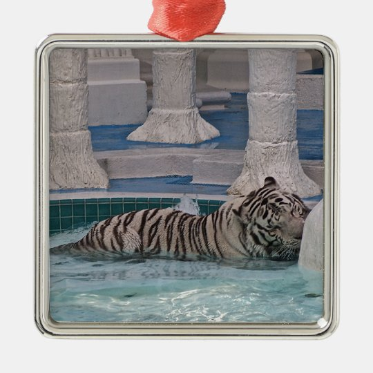 White Tiger Metal Ornament