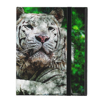 White Tiger Mixed Media iPad Cases