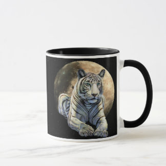 White Tiger Moon Mug