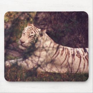White Tiger Mouse Mat