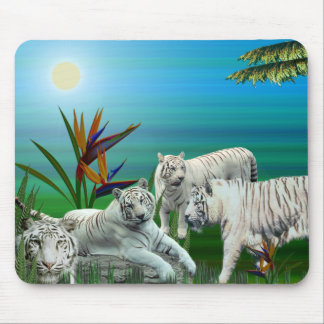 White Tiger Mousepad03 Mouse Pad