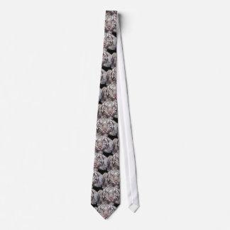 White Tiger Neck Tie