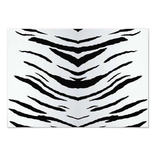 White Tiger or Zebra Striped Card