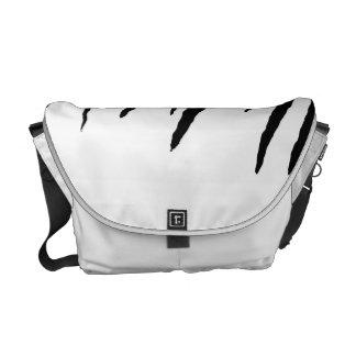 White Tiger or Zebra Striped Courier Bag