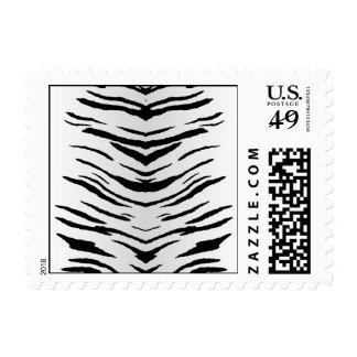 White Tiger or Zebra Striped Stamp