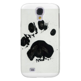 White Tiger Paw Print Galaxy S4 Case