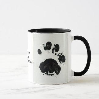 White Tiger Paw Print Mug