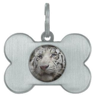 White Tiger Pet Name Tags