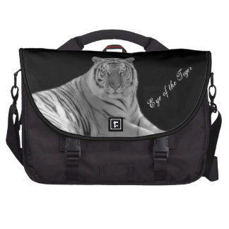 White Tiger Photo Custom Commuter Laptop Bag