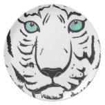 White Tiger Plate Dinner Plates