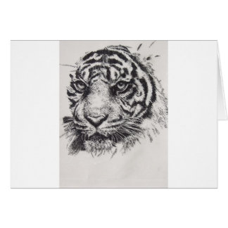 White Tiger Portrait Card