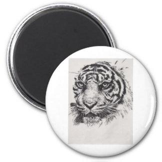 White Tiger Portrait Magnet