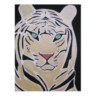 WHITE TIGER POSTCARD 2
