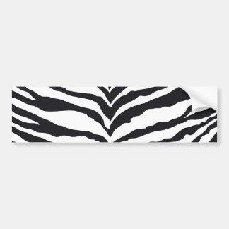 White Tiger Print Bumper Stickers