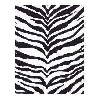 White Tiger Print Customized Letterhead