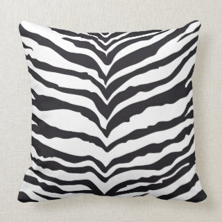 White Tiger Print Pillow