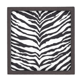 White Tiger Print Premium Jewelry Box