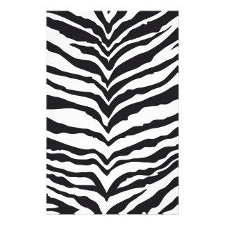 White Tiger Print Stationery