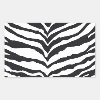 White Tiger Print Rectangle Sticker