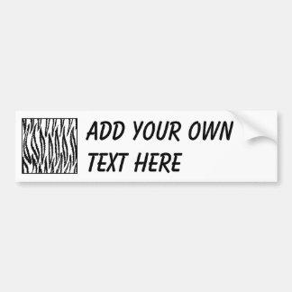 White Tiger Print. Tiger Pattern. Bumper Sticker