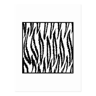 White Tiger Print. Tiger Pattern. Postcard