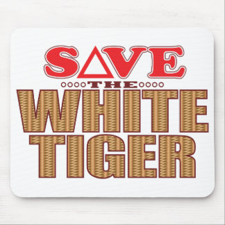 White Tiger Save Mouse Pad