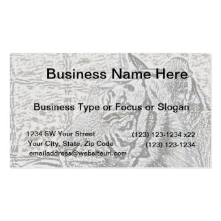white tiger sketch yellow eye Double-Sided standard business cards (Pack of 100)