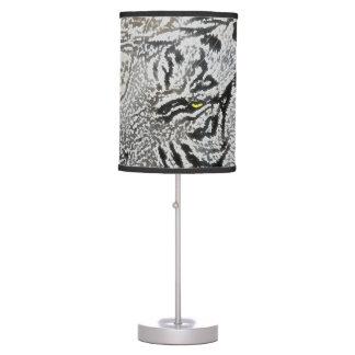 white tiger sketch yellow eye table lamps