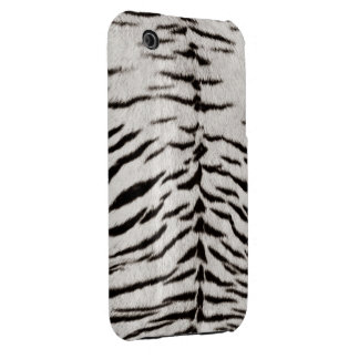 White Tiger Skin Print iPhone 3G/3GS case