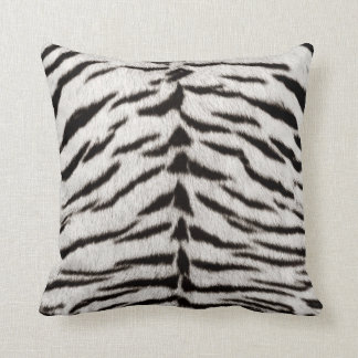 White Tiger Skin Print pillow