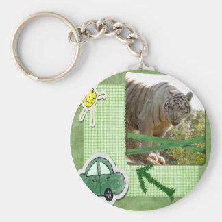 White Tiger St. Patrick's Key Chains