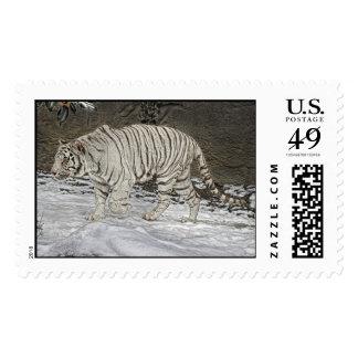 White Tiger Stalking Postage