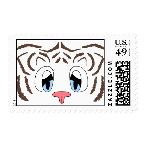 White Tiger Stamps (Brown Stripes)
