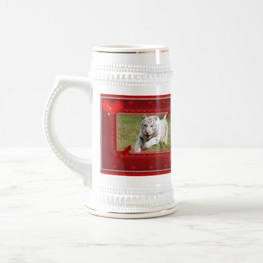 White Tiger Stein Mugs