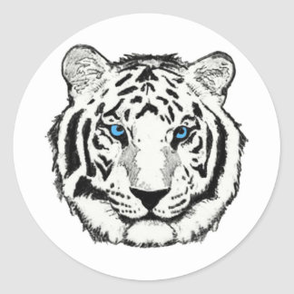 White Tiger Sticker